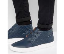 Quicker Chukka-Sneaker aus Leder Marineblau