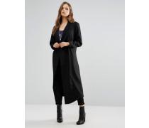 Moves Überdimensionierter Mantel Schwarz