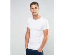 Schmales T-Shirt Weiß