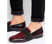 Loafer aus rotem Wildleder Rot