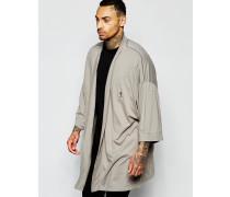 Jersey-Kimono Grau