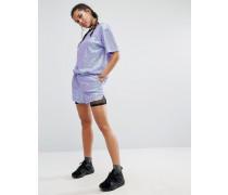 Shorts mit Pailletten, Kombiteil Violett