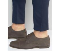Derby-Schuhe in Nerzbraun Grau