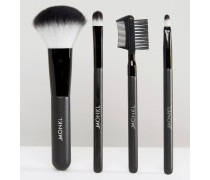 Make-Up-Pinselset Schwarz