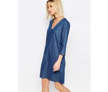 Branch Jeanskleid im Tunika-Stil Blau
