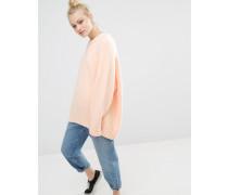 Oversize-Pullover aus weichem Strick Orange