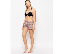 Shorts mit Zickzackmuster Mehrfarbig