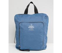 Rucksack mit Reißverschlüssen Blau