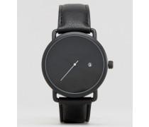 Kleine Uhr in Mattschwarz Schwarz
