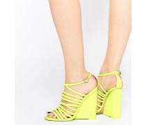 HEADLAND Schuhe mit Keilabsatz und Gitterdesign Gelb