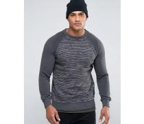 Sweatshirt mit Laufmaschen Grau