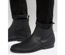 Jodphur-Stiefel aus Leder Schwarz