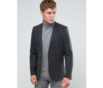 Enger Blazer aus Woll-Mischgewebe in Anthrazit Grau