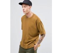 Übergroßes kastenförmiges T-Shirt Bronze