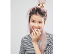 Goldfarbene Haarspange mit Schleife Gold