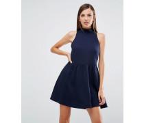 Wehendes Jersey-Kleid Marineblau