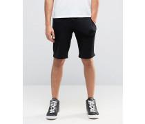 Sweat-Shorts mit Logo in Schwarz Schwarz