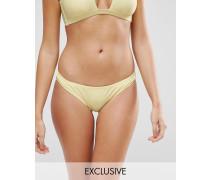 Freche Mix-and-Match-Bikinihose in Pastelltönen Gelb