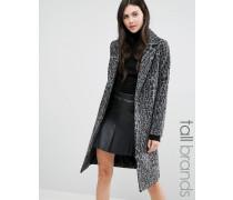 Mantel mit dunklem Leopardenprint Grau