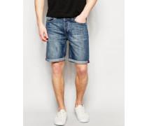 Jeansshorts in mittlerer Waschung Blau