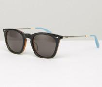 Max Quadratische Sonnenbrille Schwarz