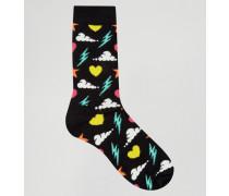 Storm Socken Schwarz
