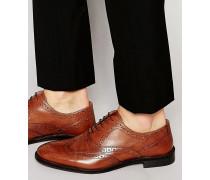 Oxford-Schnürschuhe aus hellbraunem Leder Bronze