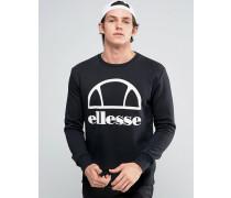 Sweatshirt mit großem Logo Schwarz