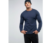 Basic Sweatshirt Marineblau