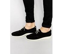 Ohh Sneakers aus Wildleder Schwarz