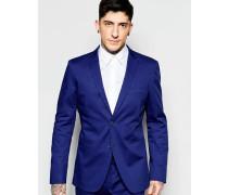 Anliegende Anzugsjacke in Kobaltblau Blau