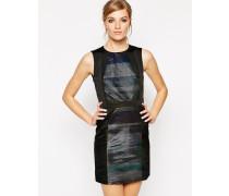 Janis Kleid mit Metallic-Streifen Schwarz