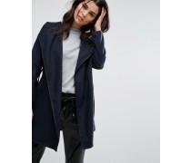 Kurzer Mantel mit Gürtel Marineblau