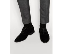 Oxford-Schuhe in schwarzer Wildlederoptik Schwarz