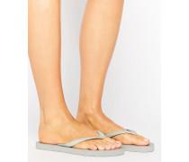 Vera Flip-Flop-Sandalen in Silber-Metallic Silber