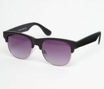Schwarze Retro-Sonnenbrille Schwarz