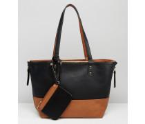 Wende-Shopper-Tasche Mehrfarbig