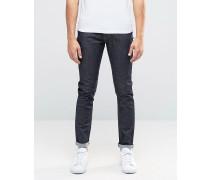 Schmal geschnittene Jeans in dunkel-marineblauer Waschung Marineblau