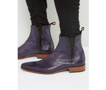 Yardbird Chelsea-Stiefel aus Leder Violett