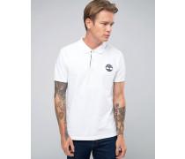 Enges, weißes Pikee-Polohemd mit Logo Weiß