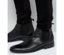 Cheshire Chelsea-Stiefel aus Leder Schwarz