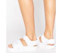 Originals Adilette Weiße Sandalen mit Riemen Weiß