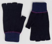 Fingerlose Handschuhe Blau