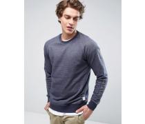 Fleeve Sweatshirt in Custom Fit Marineblau