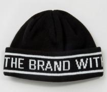 Schwarze Mütze mit Streifen, AY9078 Schwarz