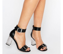 HOOLA Transparente Sandalen mit Absatz Schwarz