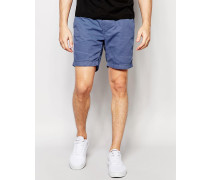 Basic-Shorts mit Kordelzug Blau