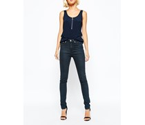Thursday Enge Jeans mit hoher Taille Blau
