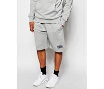 Shorts mit Bogen-Logo Grau
