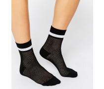Socken mit Collegestreifen Schwarz
